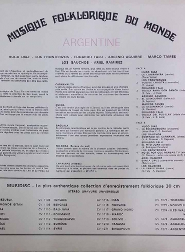Musique Folklorique Du Monde – Argentine