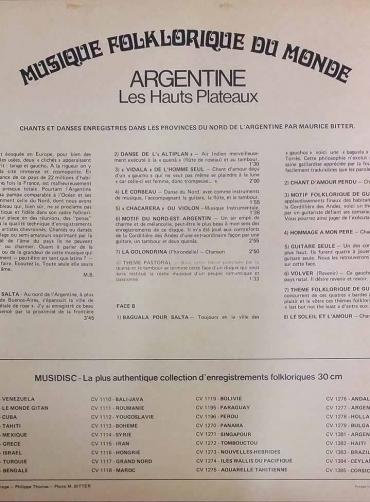 Musique Folklorique Du Monde – Argentine - Les Hauts Plateaux